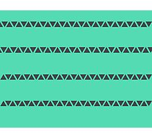Green Triangle Geometric Photographic Print