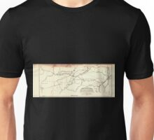 0302 Railroad Maps Skeleton map showing the position and connections of the Michigan Southern Rail Road from Toledo to Chicago with the several great rail road routes to the Unisex T-Shirt