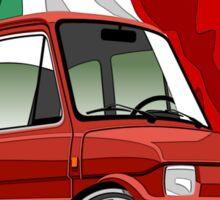 Fiat 126 caricature red Sticker