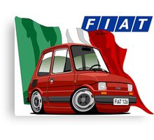Fiat 126 caricature red Canvas Print