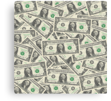 Dollar Bills Canvas Print