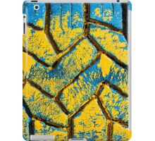 Colorful painted tire texture in detail - Grunge style multicolored background iPad Case/Skin