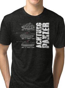 ACHTUNG PANZER Tri-blend T-Shirt