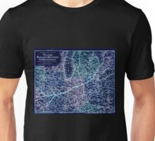 0432 Railroad Maps Map showing the line of the Toledo Wabash Western Railway Company and its Inverted Unisex T-Shirt