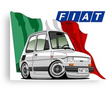 Fiat 126 caricature white Canvas Print
