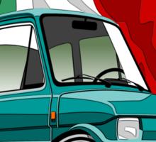 Fiat 126 caricature turquoise Sticker