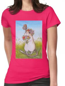 Klara With A Butterfly Womens Fitted T-Shirt