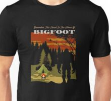 Funny Bigfoot T-Shirt | This Forest Is The Home Of Bigfoot Unisex T-Shirt