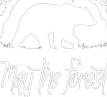 May The Forest Be With You Camping T-Shirt Sticker