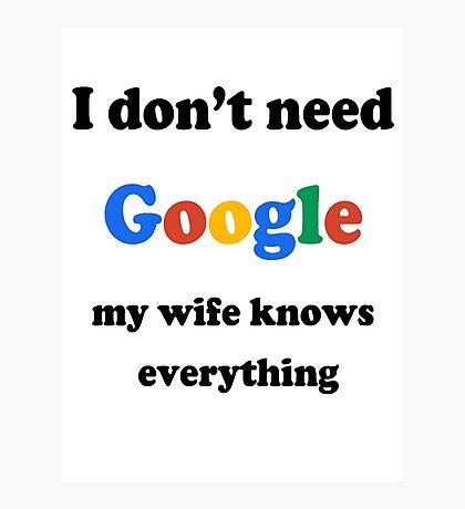 Google Photographic Print