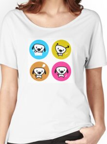 Dog icons collection. Original art and illustration Women's Relaxed Fit T-Shirt