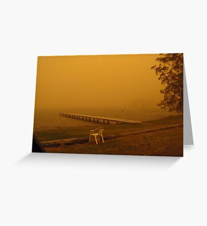 Dusty Lake Greeting Card
