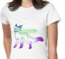 Galaxy and Lightsaber Womens Fitted T-Shirt