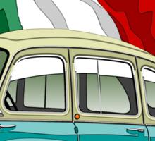 Fiat Multipla 600 caricature turquoise Sticker