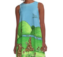 Country Bunnies A-Line Dress