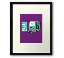 Who wants to play videogames? Framed Print
