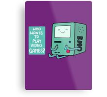 Who wants to play videogames? Metal Print