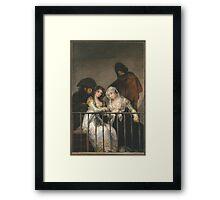 Goya - Majas Au Balcon Framed Print