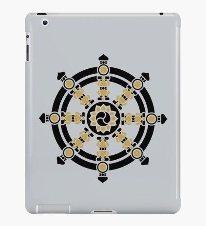 Dharma Wheel of Fortune, Buddhism, Auspicious Symbol iPad Case/Skin