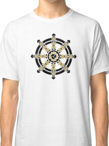 Dharma Wheel of Fortune, Buddhism, Auspicious Symbol Classic T-Shirt