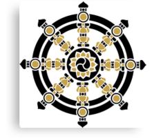 Dharma Wheel of Fortune, Buddhism, Auspicious Symbol Canvas Print