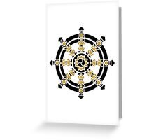 Dharma Wheel of Fortune, Buddhism, Auspicious Symbol Greeting Card