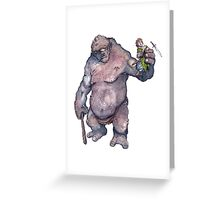 Bilbo and the Troll Greeting Card