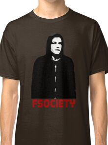 mr robot fsociety hacker anonymous tv elliot anderson protest political Classic T-Shirt