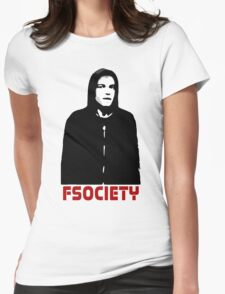mr robot shirt Womens Fitted T-Shirt