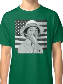 Young Obama smoking with American Flag Classic T-Shirt