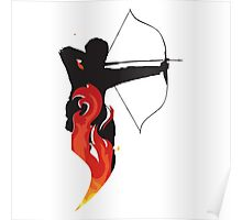 Katniss on Fire Poster