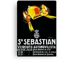 """SAN SEBASTIAN"" Vintage Grand Prix Auto Print Canvas Print"