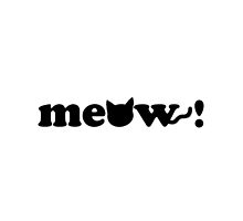 """Meow!"" Cat Graphic by dottydee"