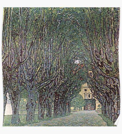 Gustav Klimt - Avenue Of Schloss Kammer Park Poster
