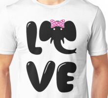 I Love Elephants  Unisex T-Shirt