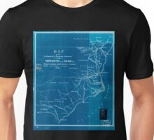 0381 Railroad Maps Map of the Seaboard Roanoke Railroad from Portsmouth Va to Weldon N C showing its connection with railroad steamboat Inverted Unisex T-Shirt