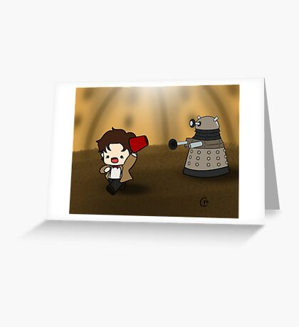 DALEK RUN Greeting Card