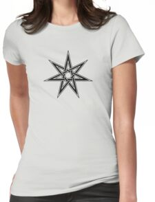 Elven Star, Fairy Star, Magical Heptagram Womens Fitted T-Shirt