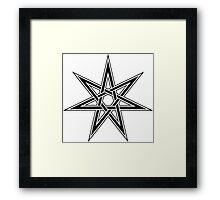 Elven Star, Fairy Star, Magical Heptagram Framed Print