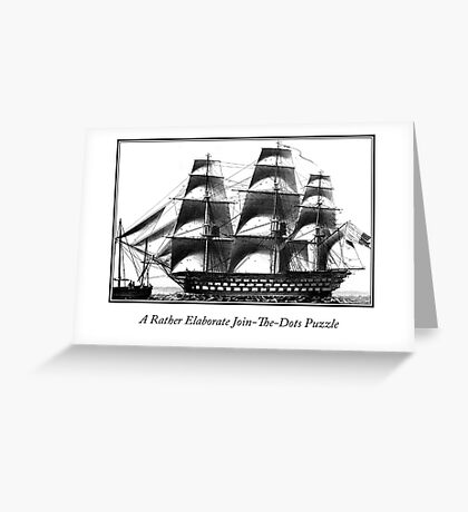 Elaborate Join The Dots Puzzle Greeting Card