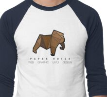 Paper Voice Logo 1 Men's Baseball ¾ T-Shirt