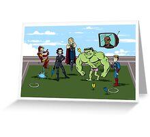 Avengers at Play Greeting Card