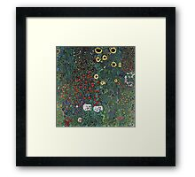 Gustav Klimt - Farm Garden With Sunflowers 1907 Framed Print