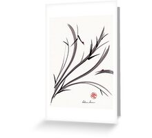 """My Dear Friend""  Original ink and wash ladybug bamboo painting/drawing Greeting Card"