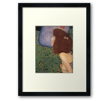 Gustav Klimt - Girl With Blue Veil, 1902 Framed Print