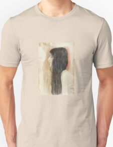 Gustav Klimt - Girl With Long Hair With A Sketch For Nude Veritas 1899 Unisex T-Shirt
