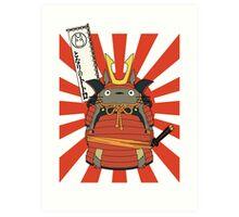 Samurai Totoro Art Print