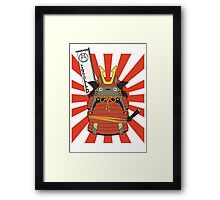 Samurai Totoro Framed Print