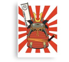 Samurai Totoro Canvas Print