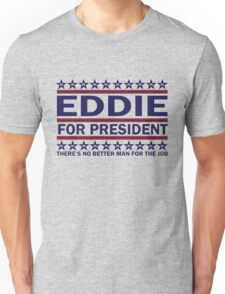 PJ - Eddie For Prez (Blue) Unisex T-Shirt